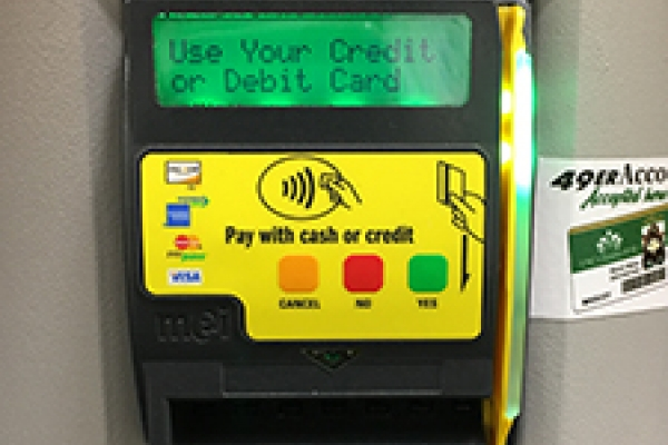 Photo of vending payment options